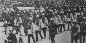 Funeral of Beerdiguing von Sultan Mohammed V