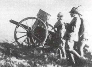 mountain artillery battery in Albania