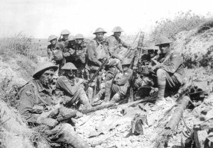 Australian soldiers attacked at Mont St Quentin