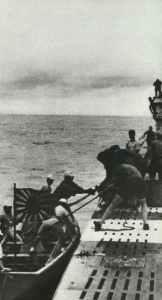 Japanese guids boarding a German U-boat