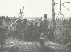 German soldiers captured by French troops during the fighting