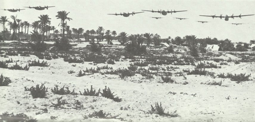 B-24 Liberator train the Ploesti raid