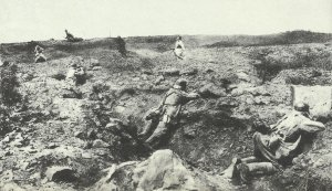 Repulse of an French attack on positions of the Hindeburg line