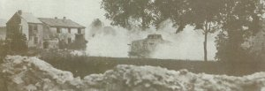 Two A7V assault tank  attacking allied troops