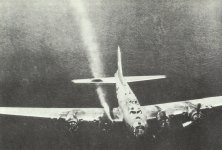 B-17 shot down over the sea
