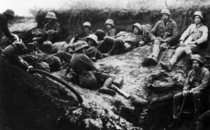 Austro-Hungarian soldiers resting