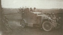 Peugeot armoured car provides fire support