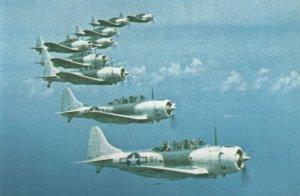 SBD Dauntless dive bombers