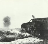 captured British tank