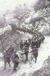 Italian troops advance across the Assiago plateau.