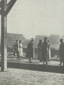 Kaiser Wilhelm II crossing the border