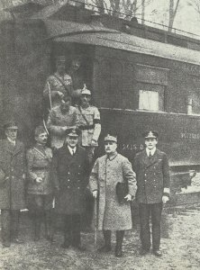 Allied Plenipotentiaries at the signing of the Armistice