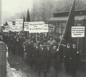 demonstration for radical Berlin workers' executive council