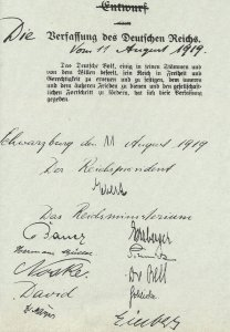 preamble to the final constitution of the German Reich