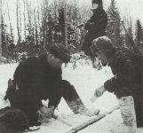 partisans at a rail blast