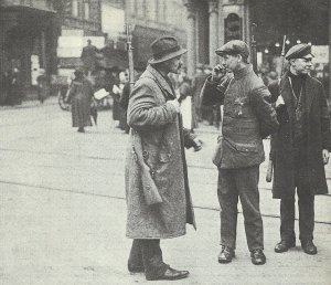Armed workers at Dortmund