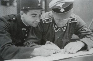 French policeman and an SS-Oberscharführer