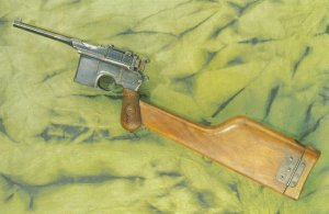 Mauser pistol model 1912 with wooden stock