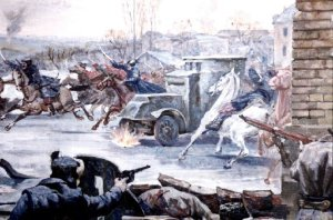 Street fighting in the Ukraine