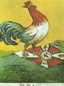 French postcard celebrates victory