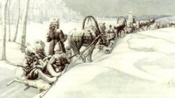 White troops retreat