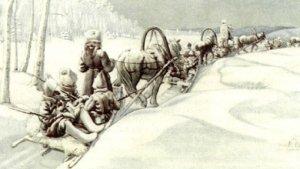 White troops retreat