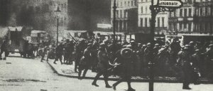 Fights between government troops and workers in March 1919 in Berlin
