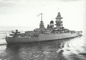 stern of the battlecruiser Dunkerque
