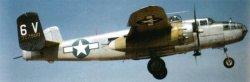 Landing of a B-25 Mitchell