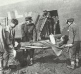 German wounded are flown out