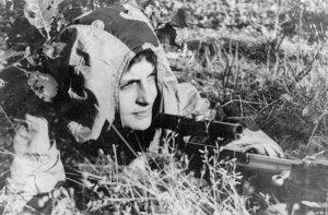 Russian female sniper