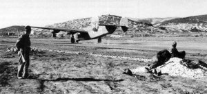 Emergency landing of a B-24 Liberator