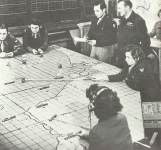 Operation room at a tactical USAAF bomber base