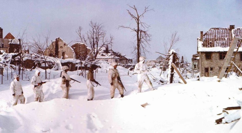 US patrol in the Ardennes