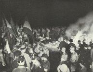 Book burning in Nazi Germany 1933.