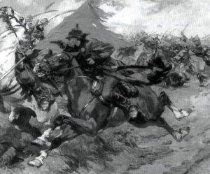Red vs White cavalry
