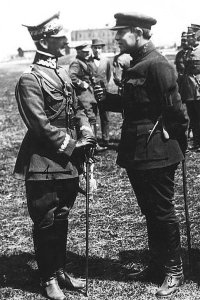 Polish general with Ukrainian leader