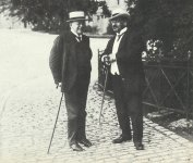 German Finance Minister Erzberger and Interior Minister Dr. Hugo Preuss