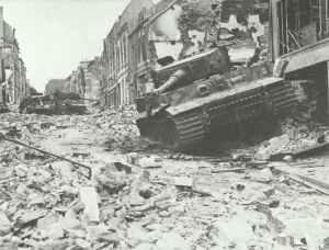 destroyed Tiger tanks Caen