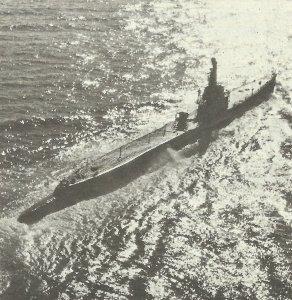 US submarine of the Gato class.