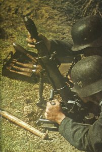 German 5cm mortar in action