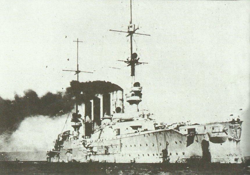 SMS Scharnhorst entering Valparais