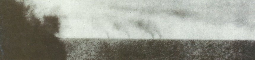 Spee's squadron running away from the Falklands