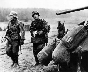 Waffen SS Grenadiers in the Ardennes.