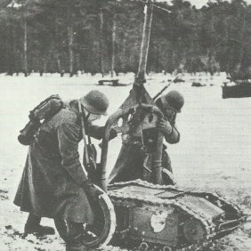 Goliath being manhandled