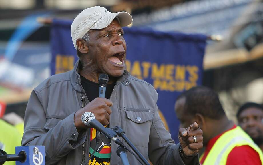 Actor and activist Danny Glover, seen here in 2013 speaking at a BART rally in Oakland, is in a new ad for Propositions F and I. Photo: Michael Macor, San Francisco Chronicle