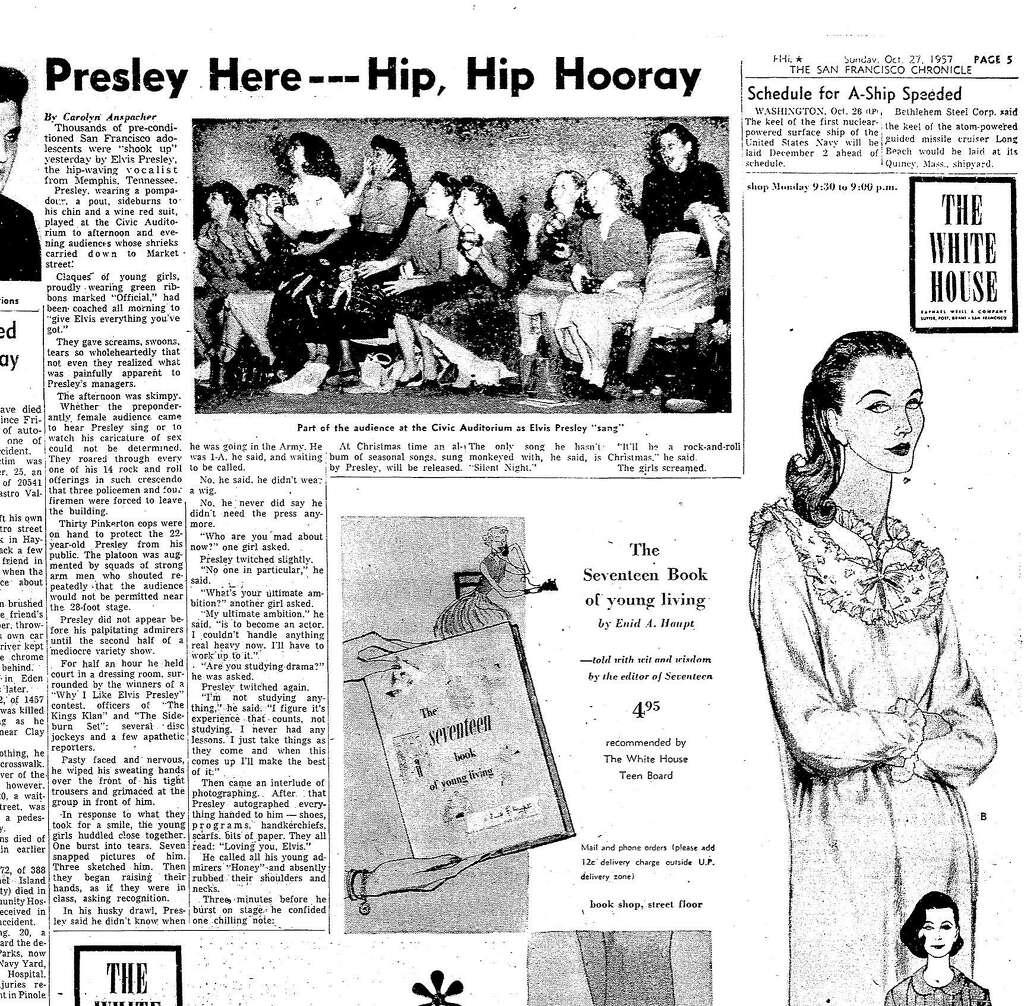 Image result for Elvis Presley, October 27