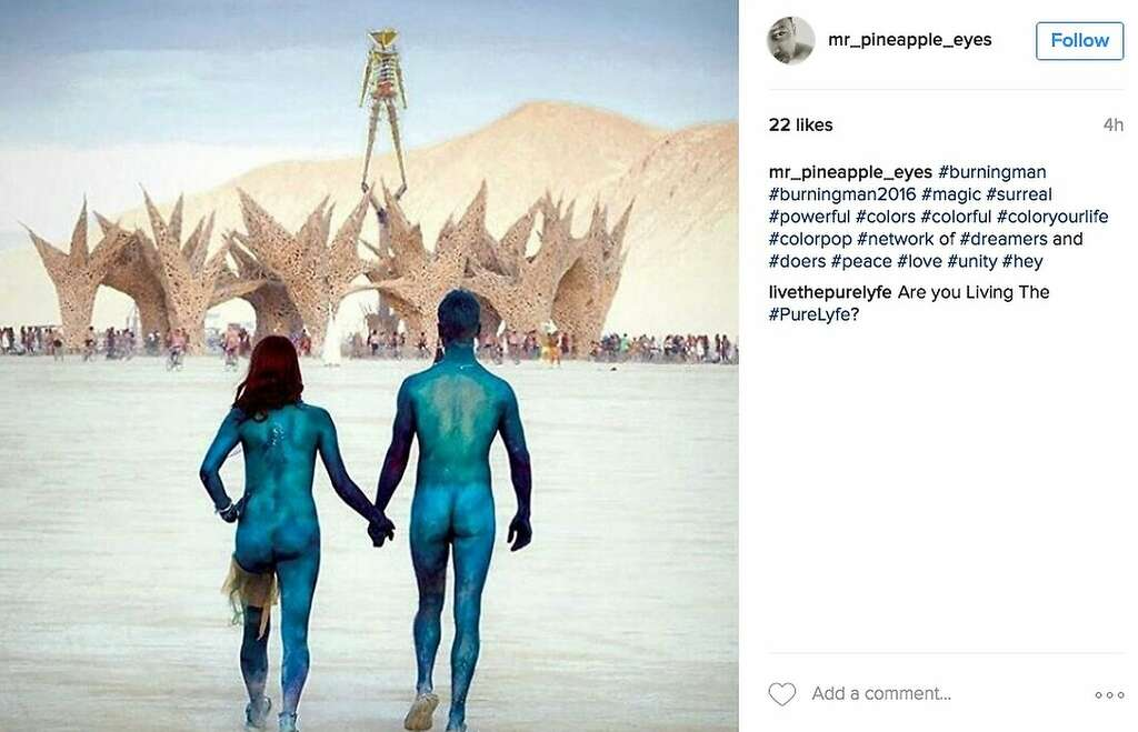 They had nothing to wear for Burning Man. Photo: Instagram Screenshot