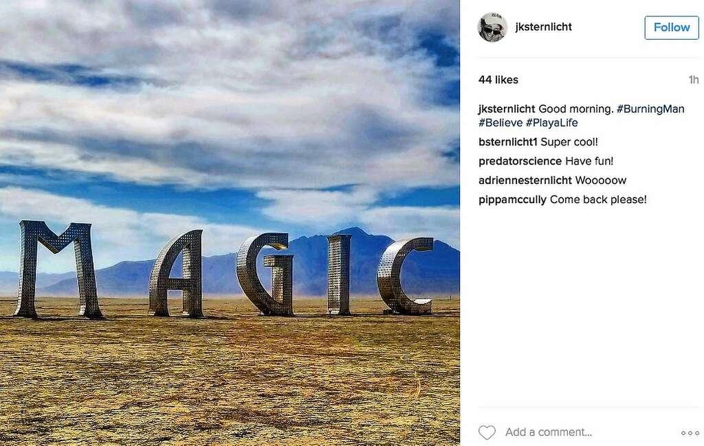 Magic happens at Burning Man during the day ... Photo: Instagram Screenshot