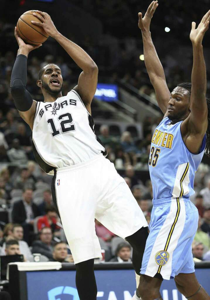 Image result for lamarcus aldridge vs Nuggets